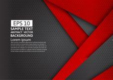 Fond abstrait géométrique noir et rouge avec l'espace de copie, conception moderne Images libres de droits