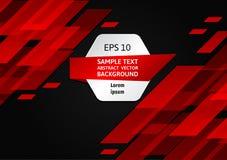 Fond abstrait géométrique rouge et noir avec l'espace de copie, nouvelle illustration de vecteur illustration libre de droits