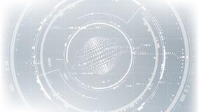 Fond abstrait global de future interface technologique de cyber illustration stock