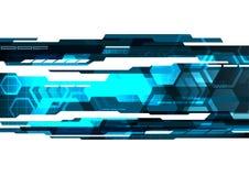 Fond abstrait graphique numérique bleu Images libres de droits