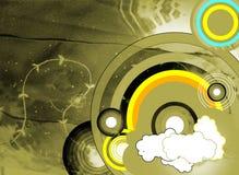Fond abstrait grunge avec des cercles illustration stock
