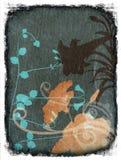 Fond abstrait grunge avec des fleurs illustration de vecteur
