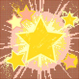 Fond abstrait grunge d'étoile d'explosion. Photographie stock libre de droits