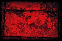 Fond abstrait grunge noir et rouge avec la frontière Photo libre de droits