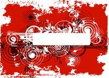 Fond abstrait grunge rouge Image libre de droits