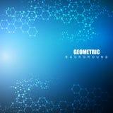 Fond abstrait hexagonal Grande visualisation de données Connexion réseau globale Médical, technologie, la science illustration de vecteur