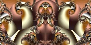 Fond abstrait horizontal fabuleux avec le modèle en spirale vous illustration libre de droits