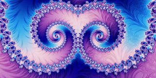 Fond abstrait horizontal fabuleux avec le modèle en spirale vous illustration de vecteur