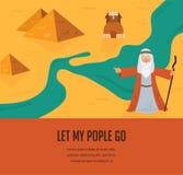 Fond abstrait - hors des juifs d'Egypte Vecteur et illustration illustration stock