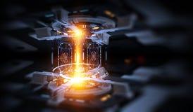Fond abstrait industriel technologique illustration libre de droits