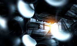 Fond abstrait industriel technologique illustration de vecteur
