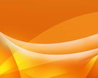 Fond abstrait jaune d'ondes lumineuses Image libre de droits