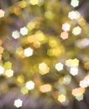 Fond abstrait jaune de Noël Photographie stock libre de droits
