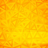 Fond abstrait jaune de triangles Photo stock