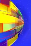 Fond abstrait jaune et bleu Photos libres de droits
