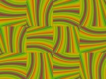 Fond abstrait jaune-orange vert plié de spectre de vague de modèle rétro Image libre de droits