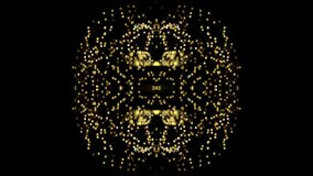 Fond abstrait, kaléidoscope créatif clips vidéos