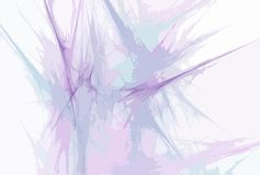 Fond abstrait, lignes ondulées bleues Image stock