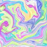 fond abstrait liquide avec des filets de peinture ? l'huile illustration stock