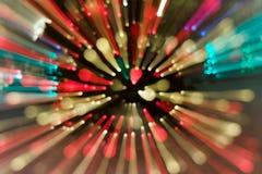 Fond abstrait, lumières dans une boîte de nuit Images stock