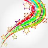 Fond abstrait lumineux avec des étoiles. Photo stock
