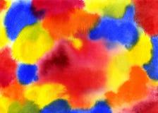 Fond abstrait lumineux d'aquarelle Photos libres de droits