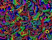 Fond abstrait lumineux et coloré de vecteur illustration stock