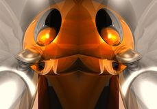 Fond abstrait lumineux futuriste multicolore unique généré par ordinateur artistique d'illustration de robot des fractales 3d illustration de vecteur