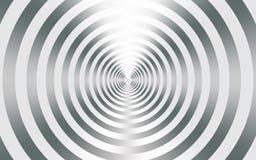 Fond abstrait métallique argenté avec les cercles concentriques illustration de vecteur