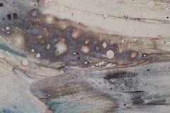 Fond abstrait marin marbré Modèle de marbre acrylique liquide images stock