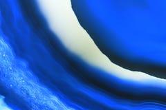 Fond abstrait, minerai bleu de tranche d'agate photos stock