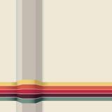 Fond abstrait minimaliste avec les rayures colorées Photos libres de droits