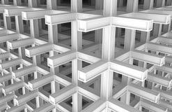 fond abstrait monochrome de l'architecture 3d Image stock