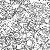 Fond abstrait monochrome sans couture de vecteur illustration de vecteur