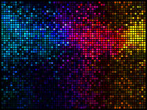 Fond abstrait multicolore de disco Images stock