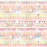 Fond abstrait multicolore de drapeau géométrique de diamant Images libres de droits