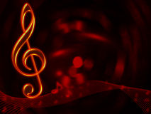 Fond abstrait musical Image stock