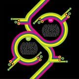 Fond abstrait noir de vecteur rétro Images libres de droits