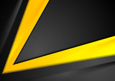 Fond abstrait noir orange de contraste illustration libre de droits