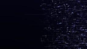 Fond abstrait numérique futuriste de données Les lignes de Loopable symbolisent la technologie de pointe et la connexion internet illustration stock