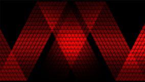 Fond abstrait numérique rouge de technologie Photos libres de droits