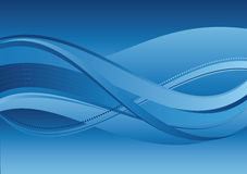Fond abstrait - ondes de bleu Photo libre de droits