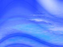 Fond abstrait ondulé bleu Photo libre de droits