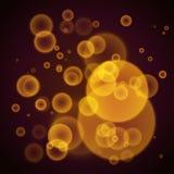 Fond abstrait orange avec des lumières de bokeh Photographie stock libre de droits