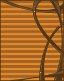 Fond abstrait orange de Brown Image stock