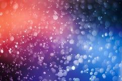 Fond abstrait orange de tache floue rose bleue de Bokeh image libre de droits