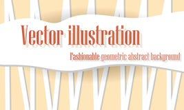 Fond abstrait orange des lignes, illustration Photographie stock libre de droits