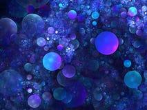 Fond abstrait. Palette bleue. Photographie stock