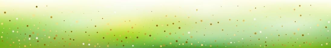 Fond abstrait panoramique Confettis d'étoile d'or illustration libre de droits