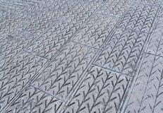 Fond abstrait - pavés gris Photo stock